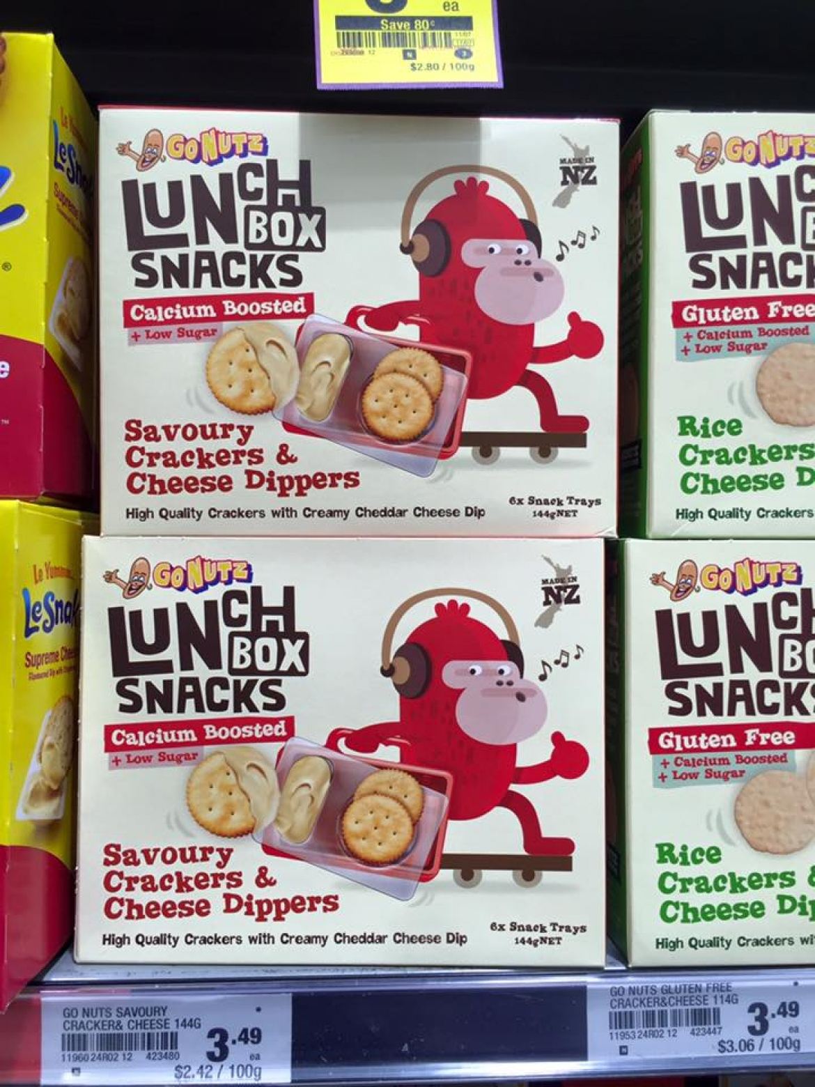 Onfire Design Go Nutz Lunch Box Snacks Packaging Design