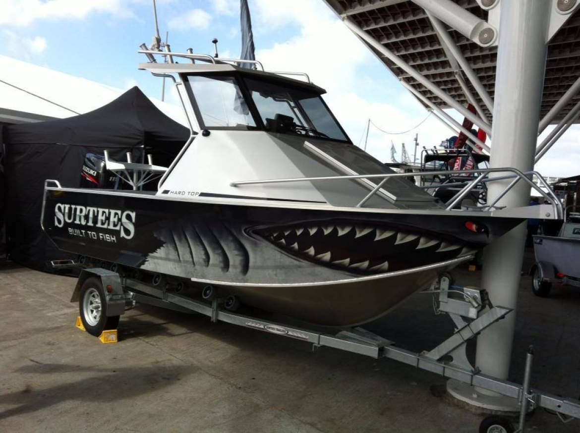 Custom Surtees Boat Vinyl Wraps by Onfire Design » Onfire Design
