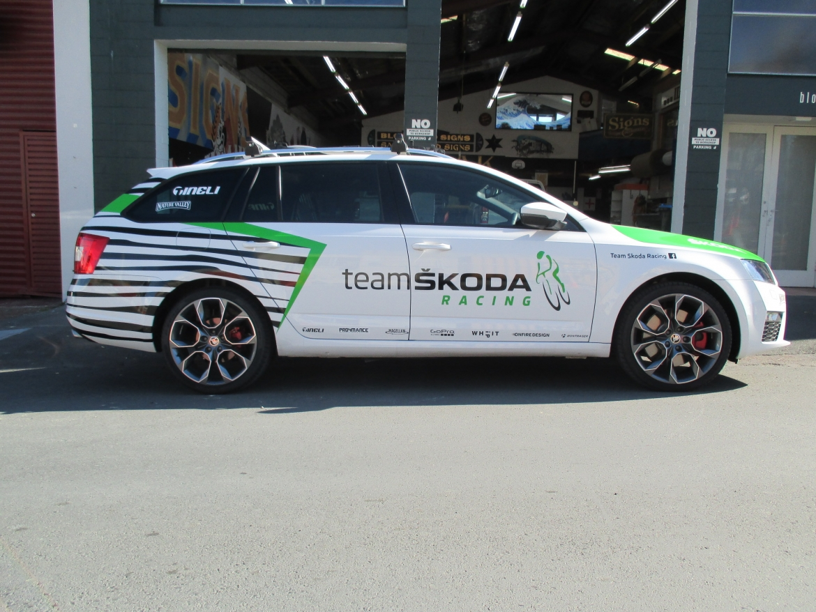 Skoda Cycling Team Vehicle Signage Auckland 01