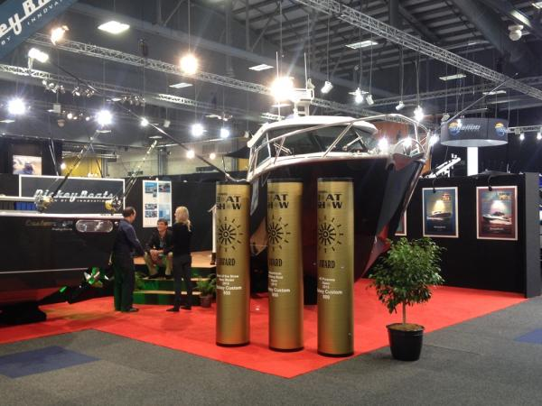 Onfire design Dickey Boats hutchwilco boat trade show stand awards 01