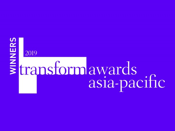 Transform Awards Winner Logo Purple