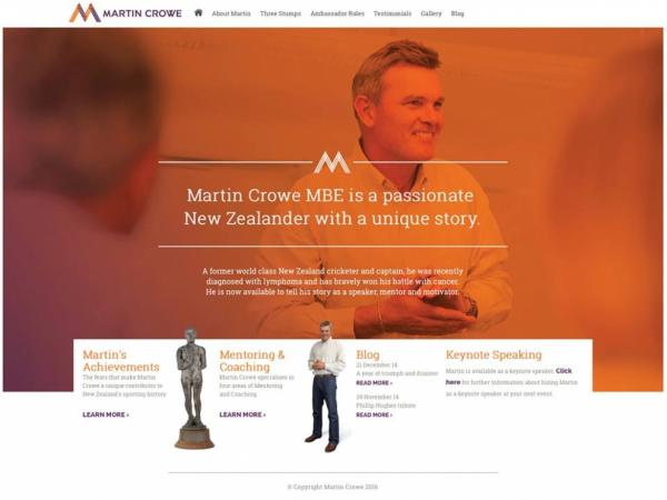 large Martin Crowe Website