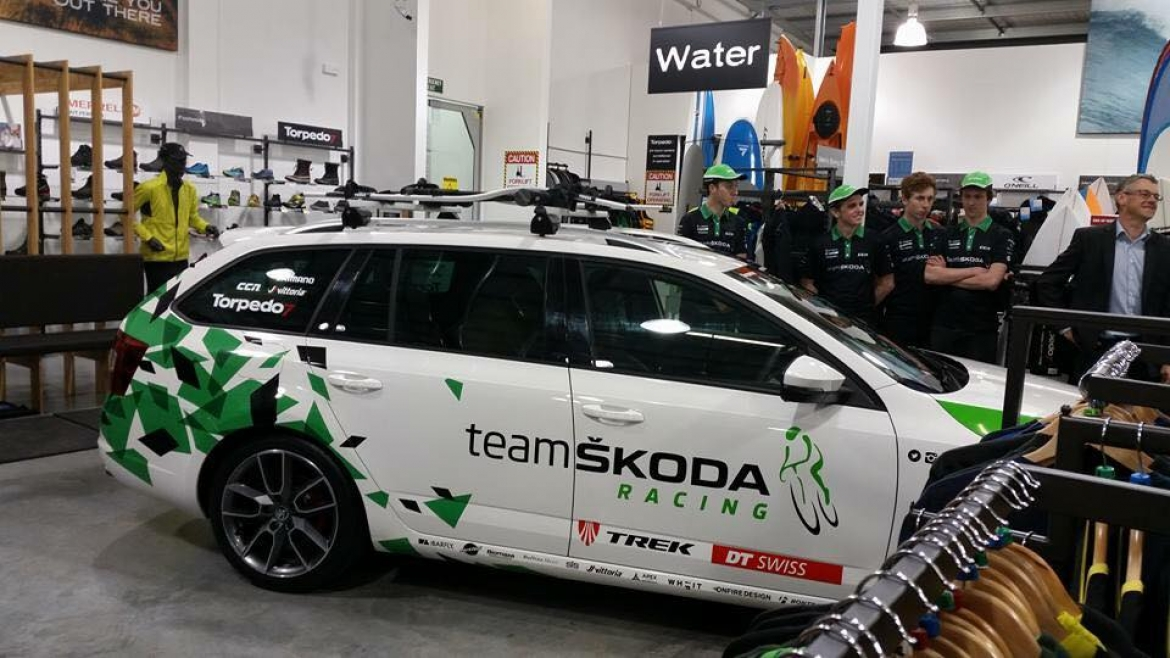 large Team Skoda Racing Car Signage