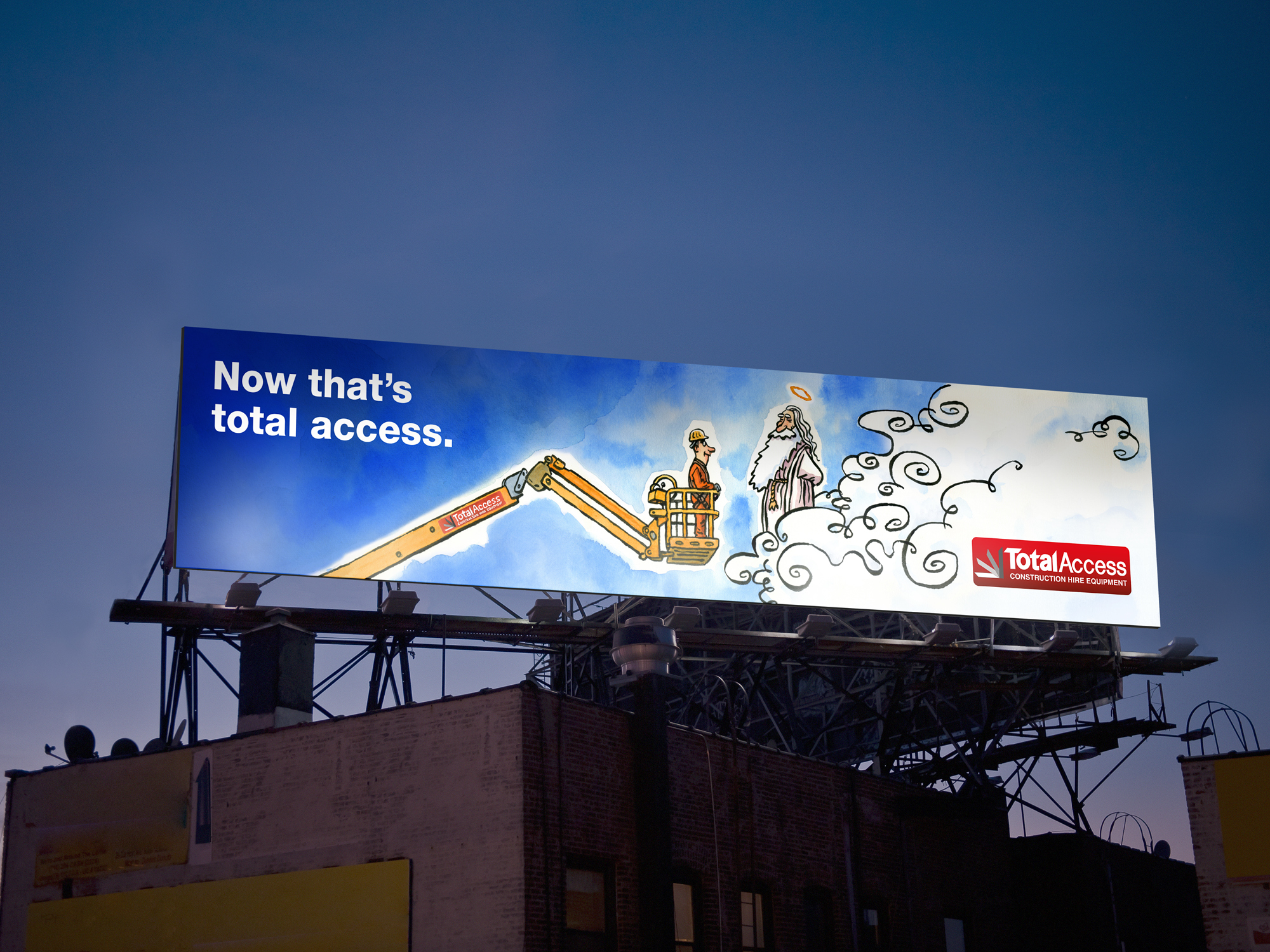 Onfire design total access billboard design branding 1