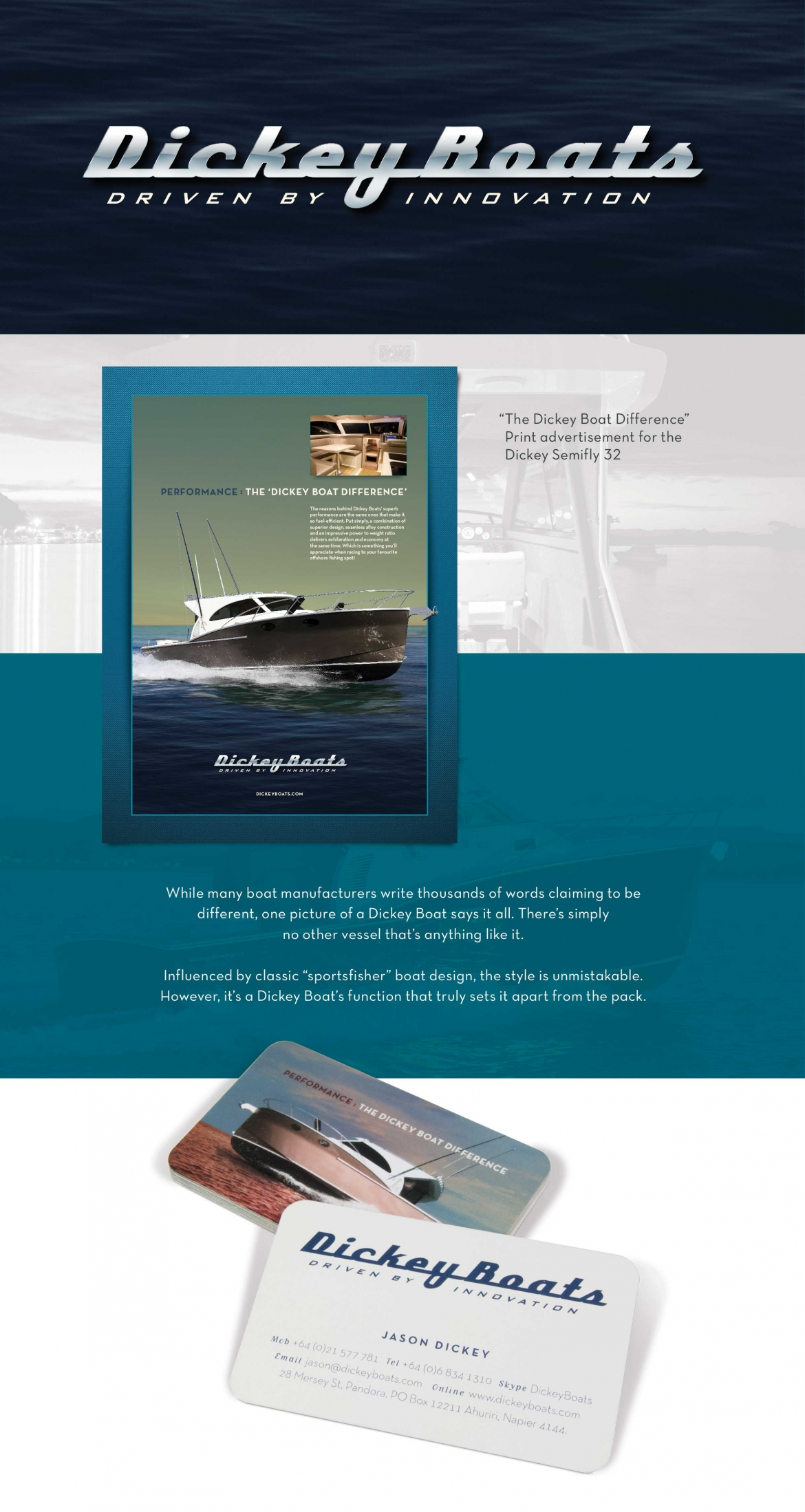 large Onfire Design Dickey Boats Branding Design 1