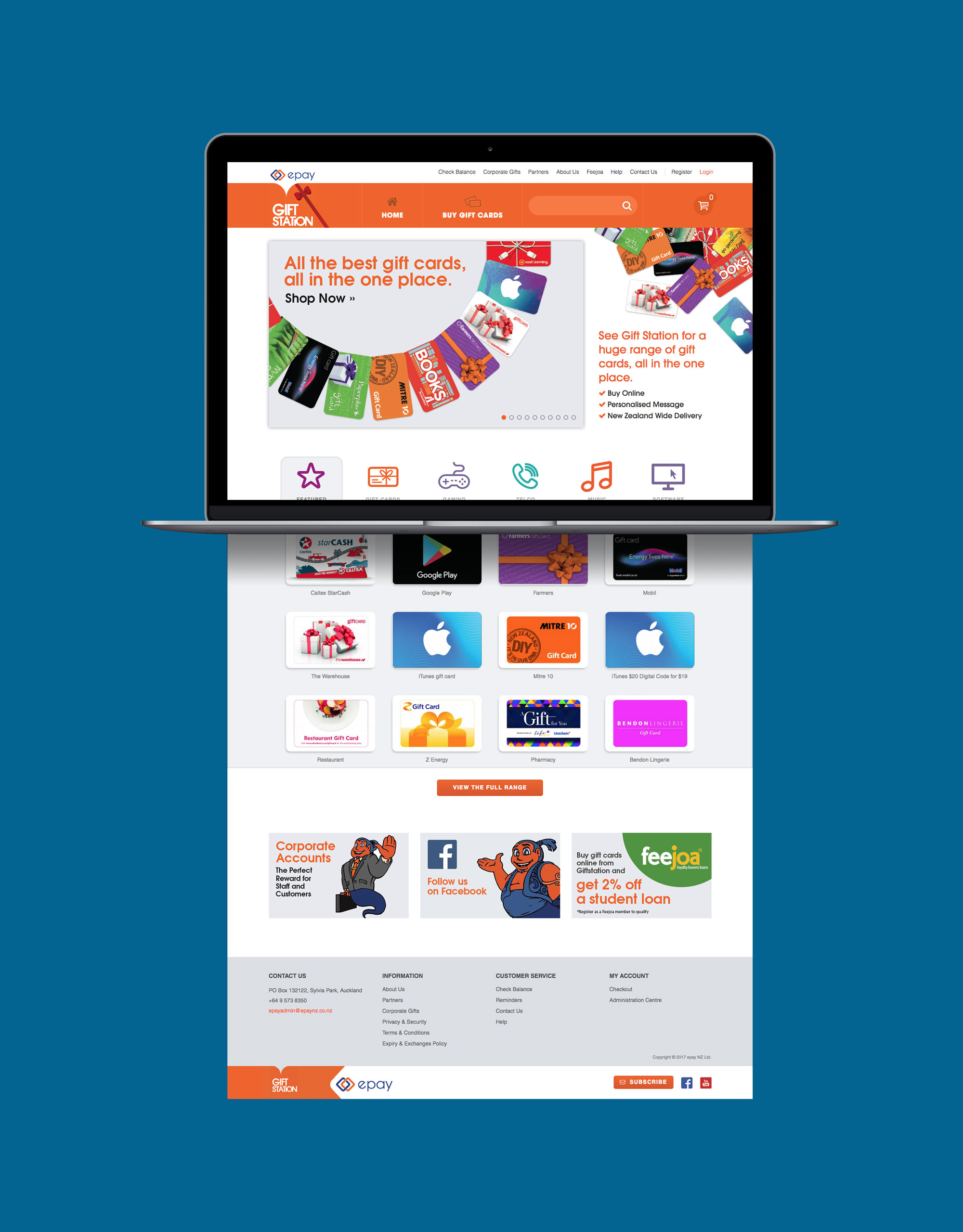 Onfire Deisgn Gift Station Website Design 01