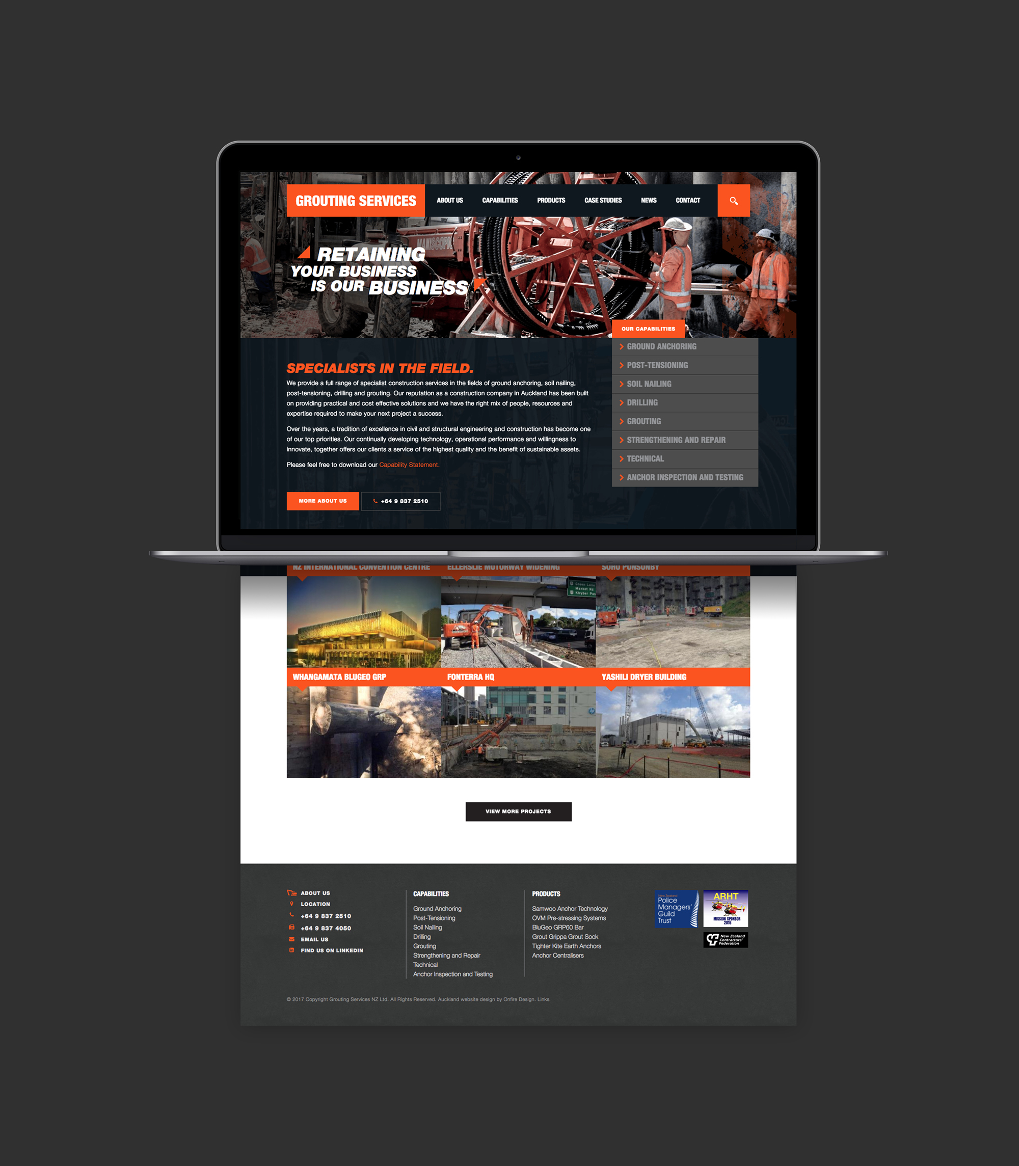 onfire design grouting services branding identity website design 1