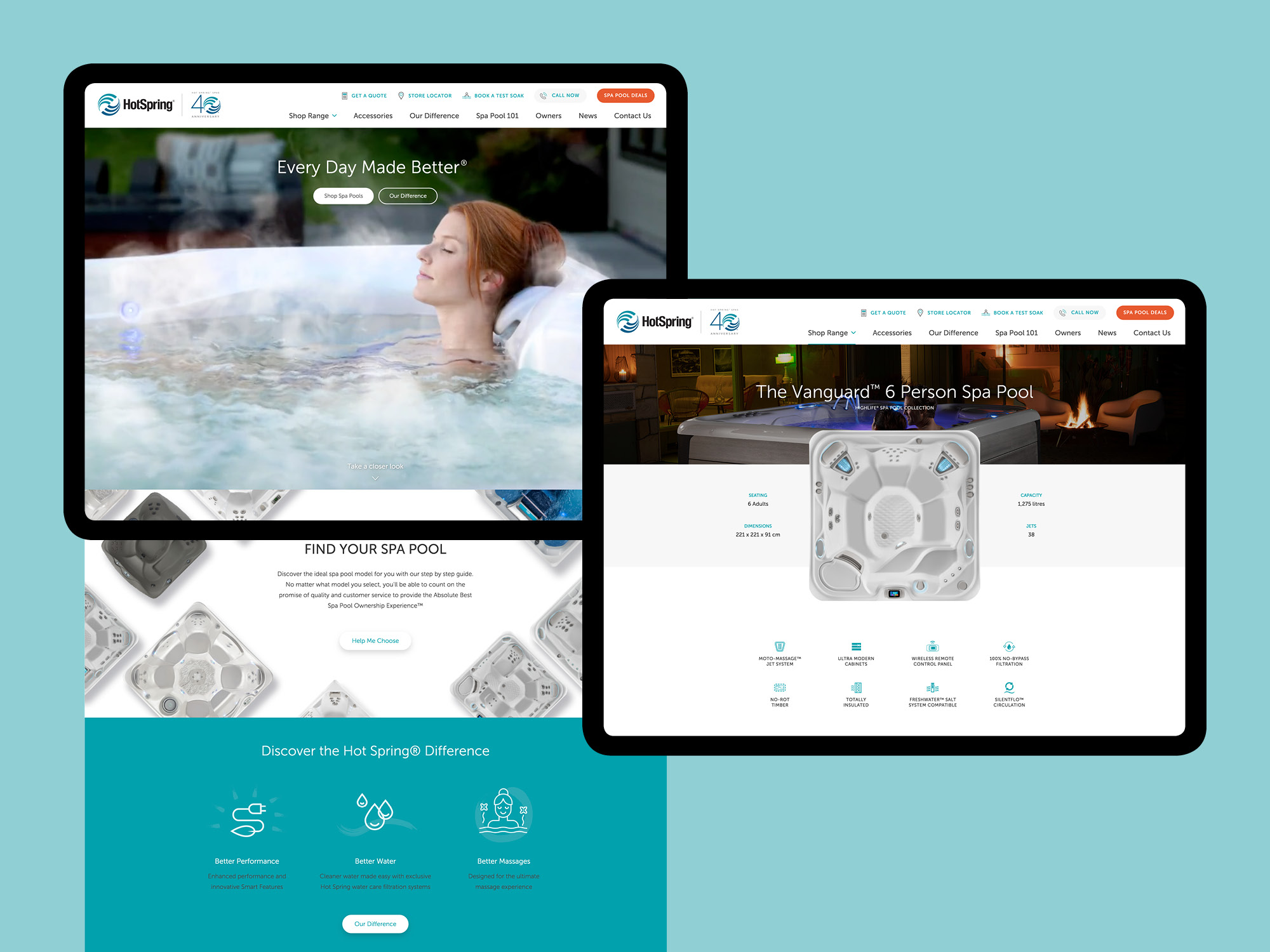 onfire design hotspring spa pool website design 5