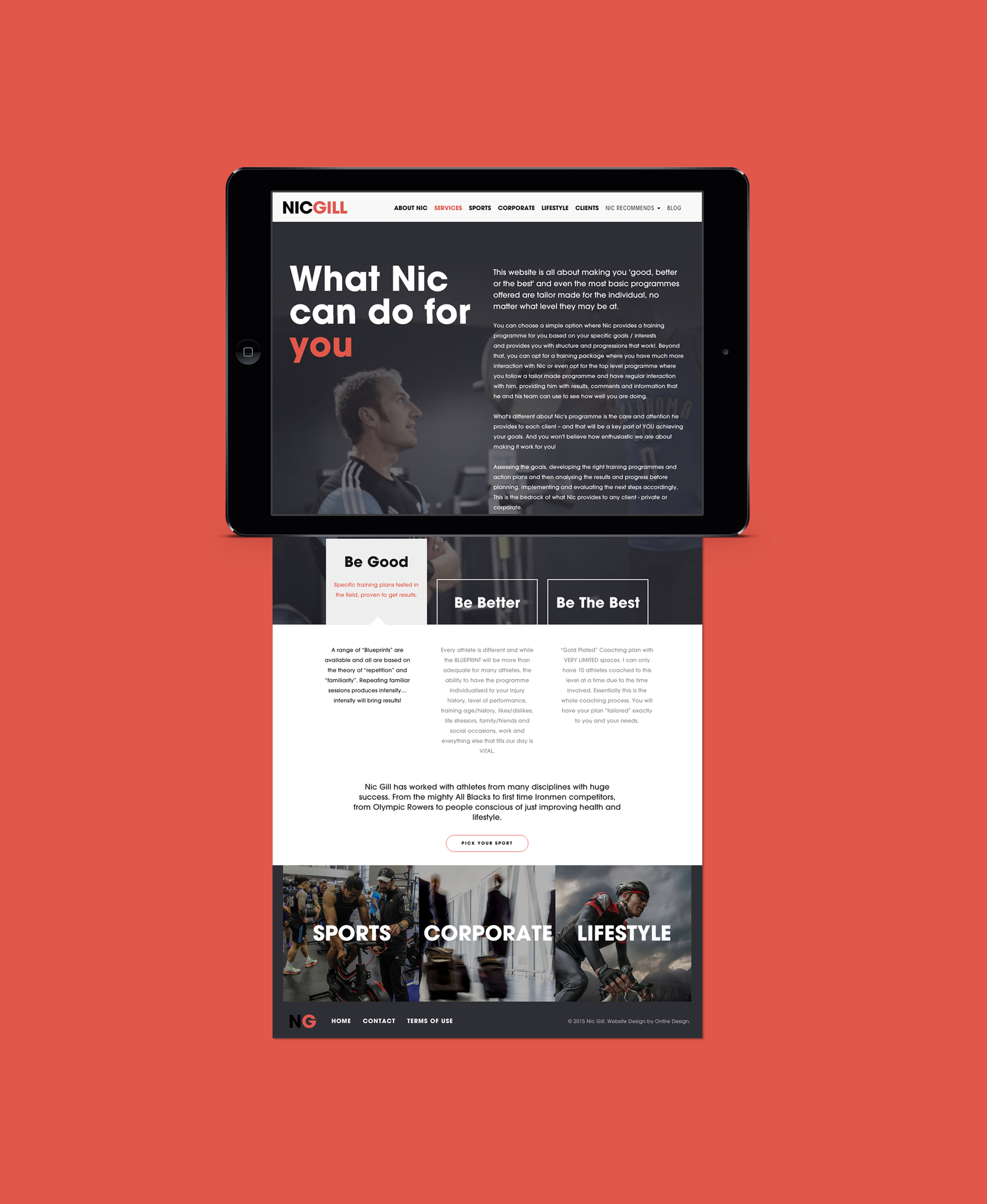 Onfire Design Nic Gill Sports Lifestyle Coach Web Graphic Digital Design 2