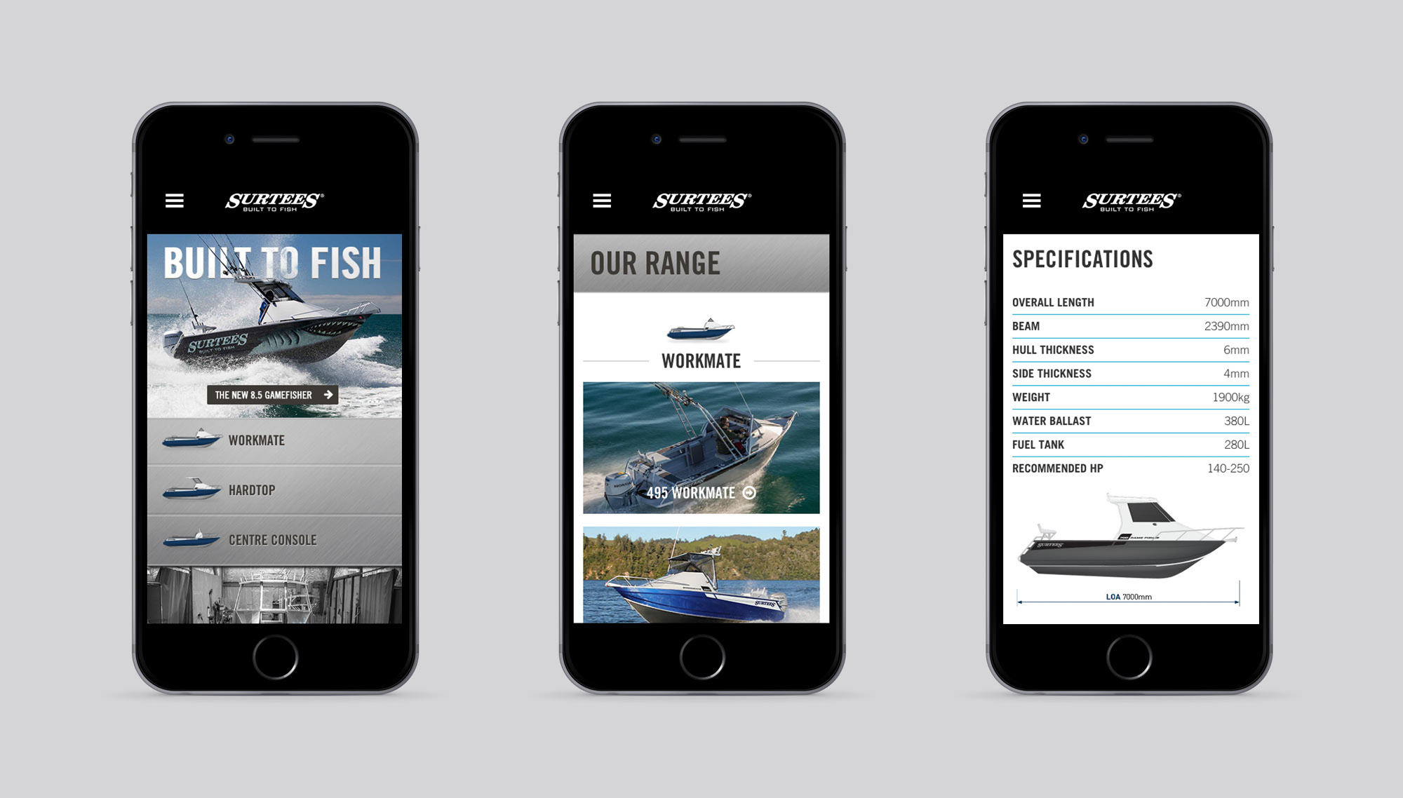 Onfire design surtees boats digital website design auckland 9