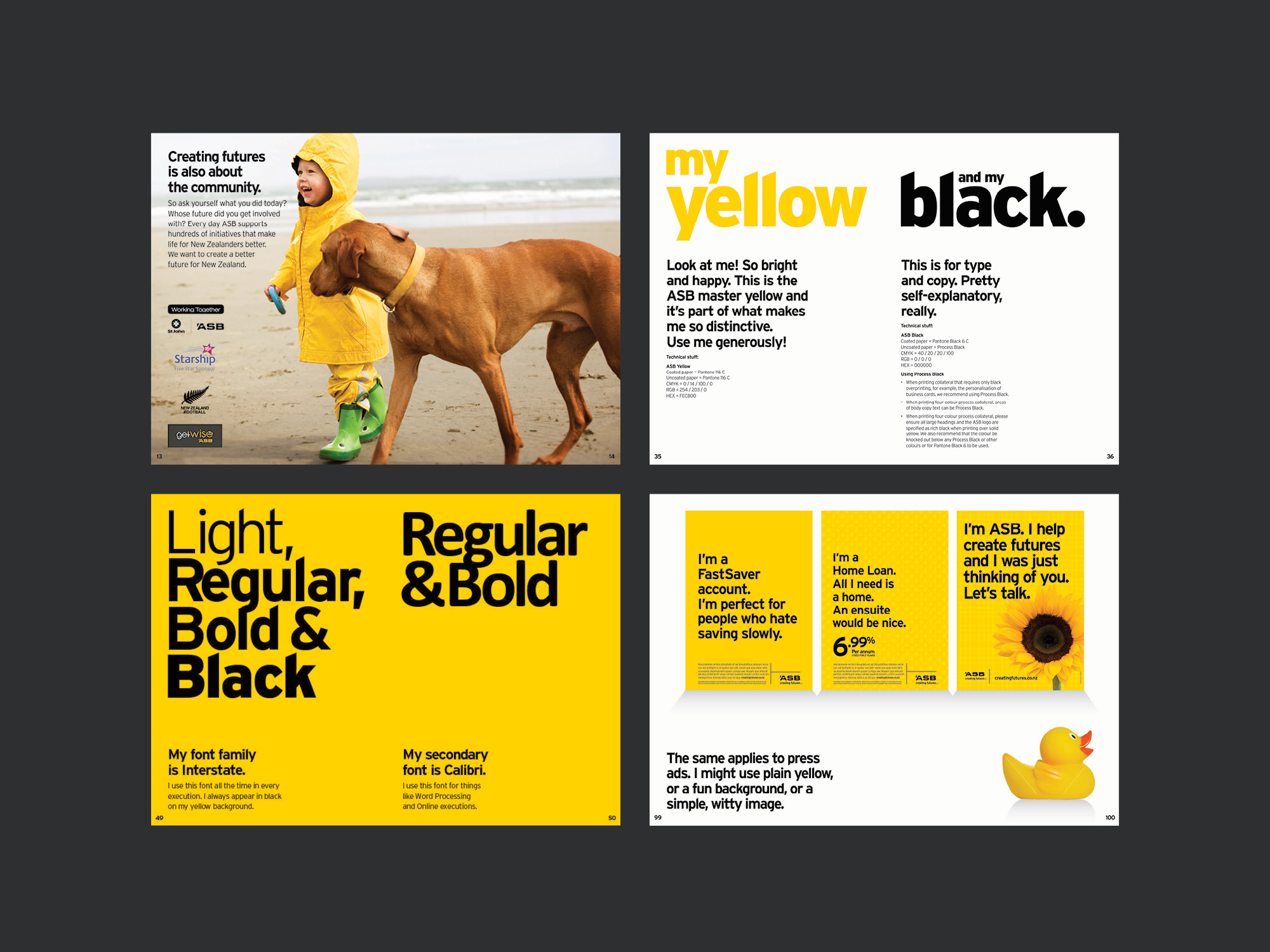 ASB Bank Brand Collateral and Credit Card Artwork by Onfire Design