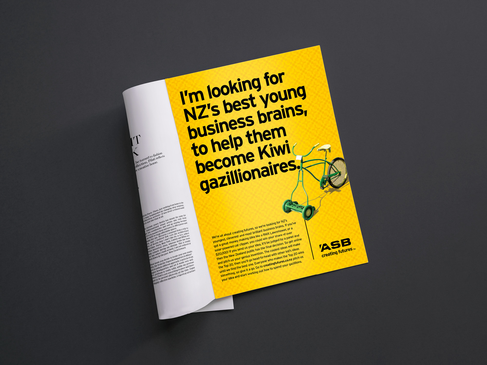 ASB Bank Brand Collateral and Credit Card Artwork by Onfire