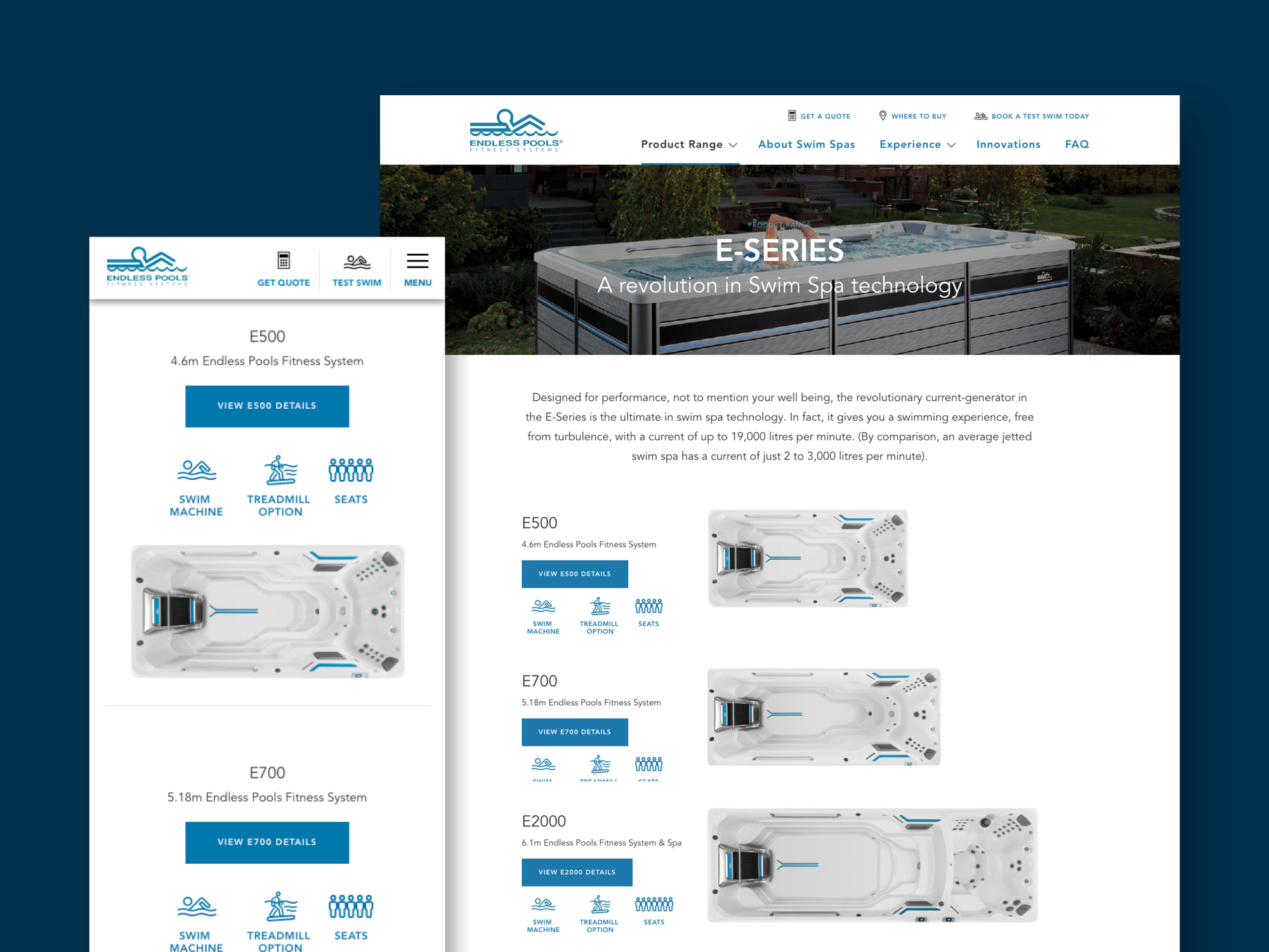 onfire design endless fitness spa pools website design 3