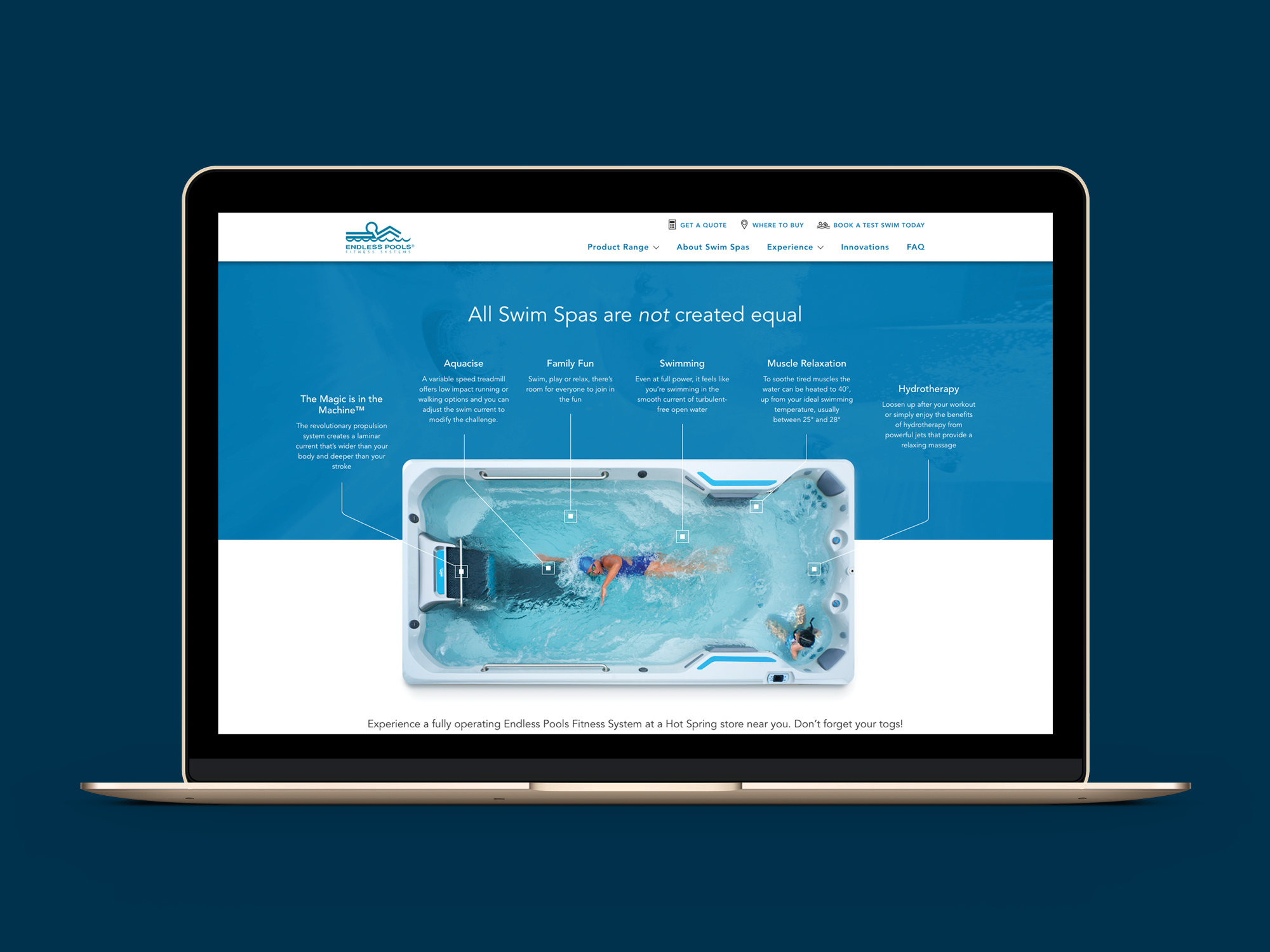 onfire design endless fitness spa pools website design 4
