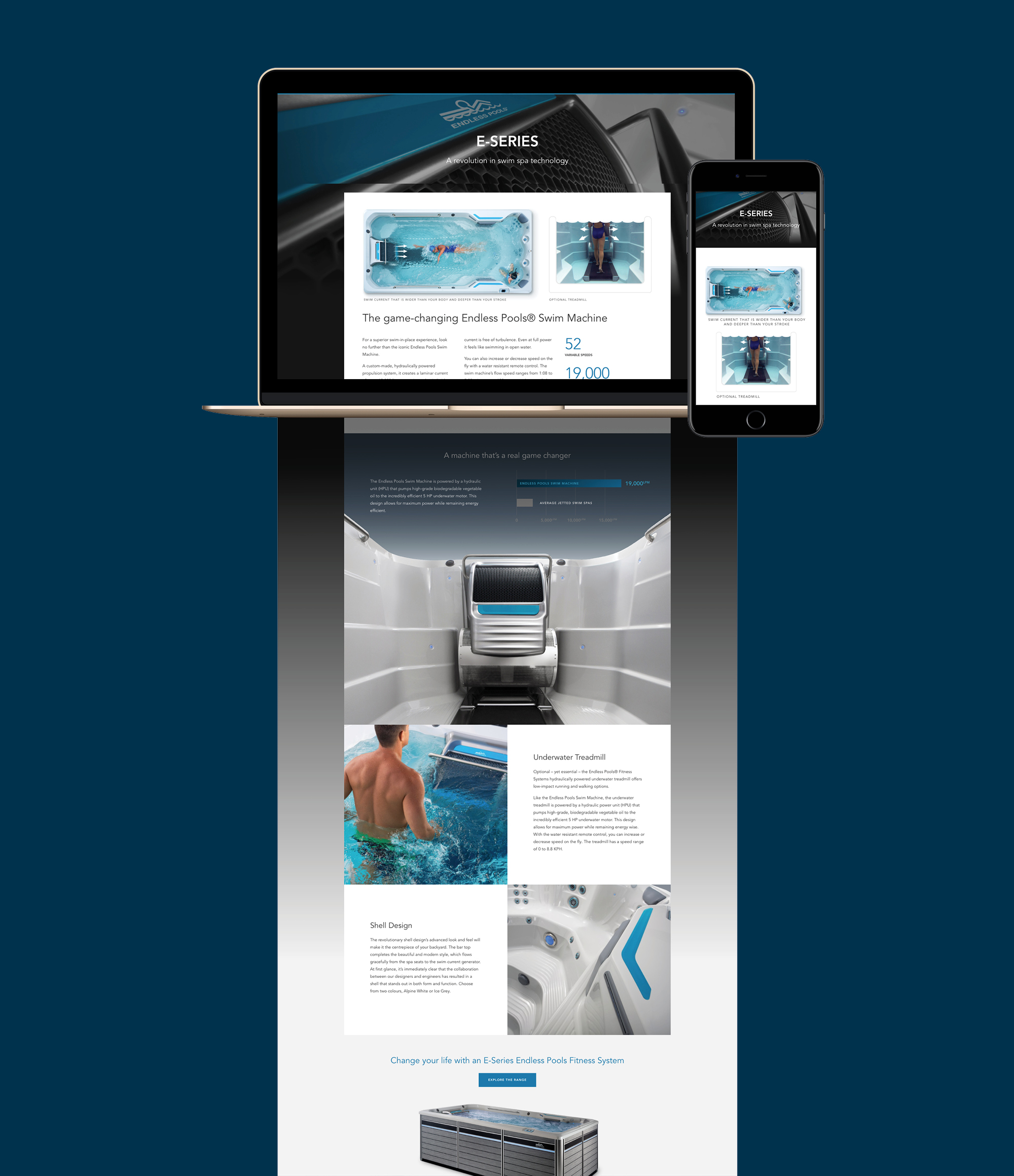 onfire design endless fitness spa pools website design 5