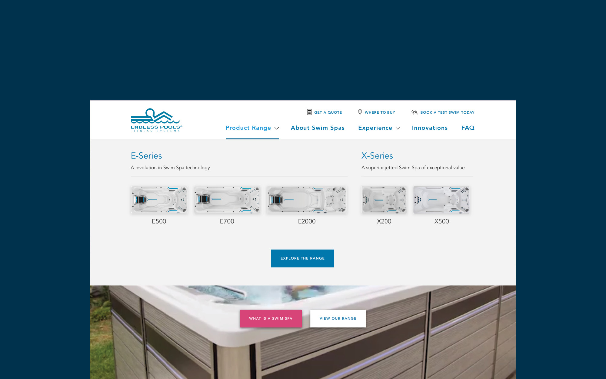 onfire design endless fitness spa pools website design 6