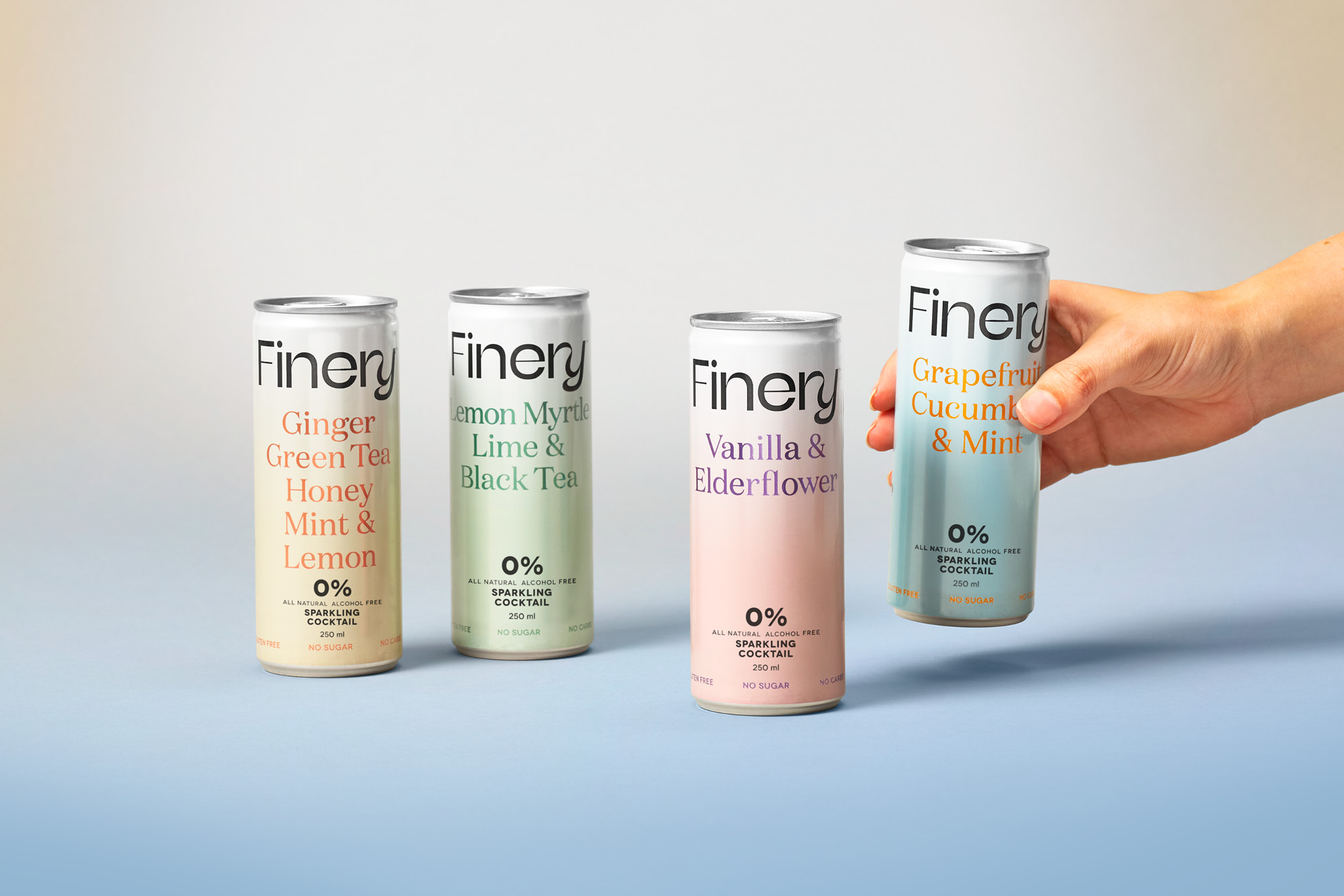 onfire design finery zero percent soda packaging 8