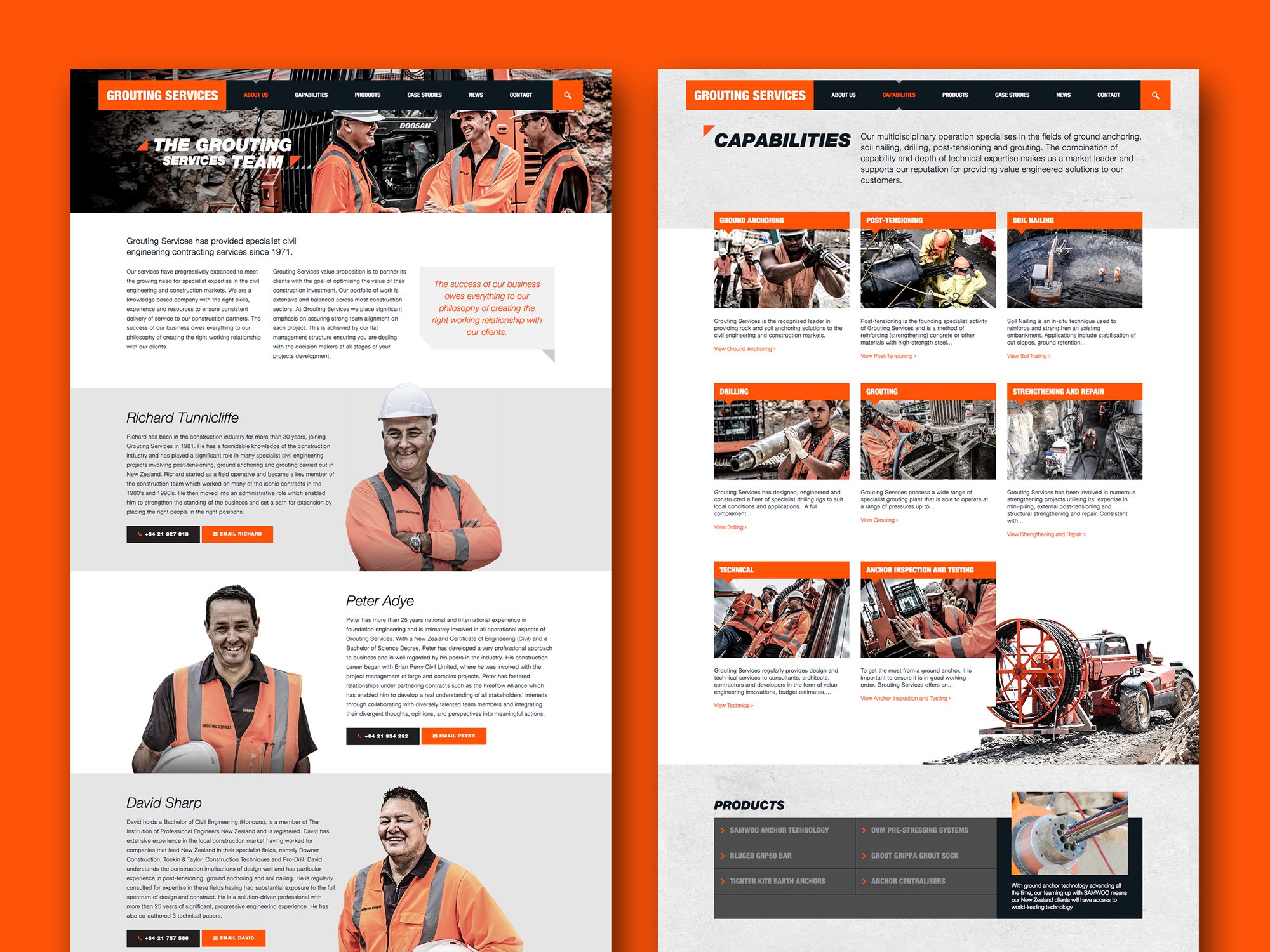 onfire design grouting services branding identity website design 3