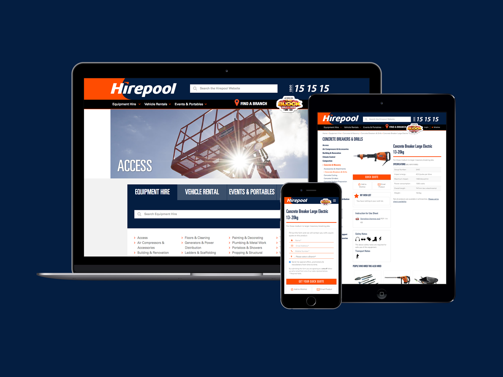 onfire design hirepool website design 6